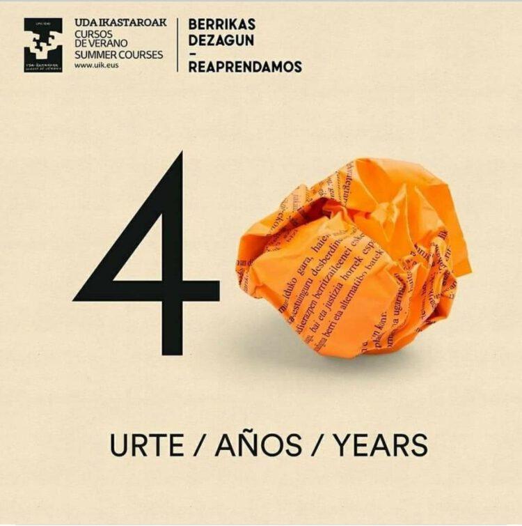 Logotipo de los 40 años de los cursos de verano